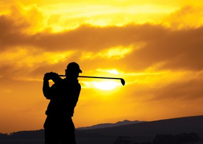 Golfer-in-the-Evening