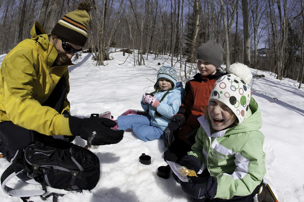 Snowshoeing at Lac Taureau Winter Wonderland for Families